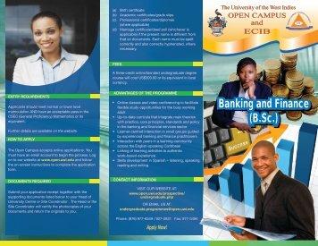 Banking and Finance (B.Sc.) - Open Campus - Uwi.edu