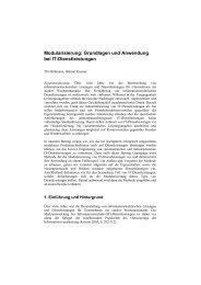 Modularisierung: Grundlagen und Anwendung bei IT-Dienstleistungen