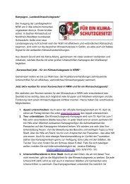 """Kampagne """"Landesklimaschutzgesetz"""" Der Ausgang der ..."""