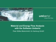 Material and Energy Flow Analysis with the Software ... - RZ User