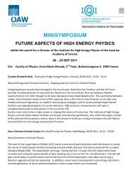 MINISYMPOSIUM - Austrian Physical Society