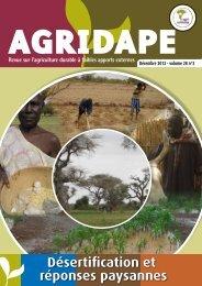 Désertification et réponses paysannes - AgriCultures Network