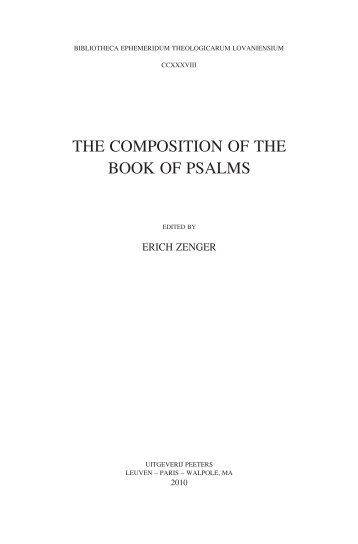 the composition of the book of psalms - Protestantse Theologische ...