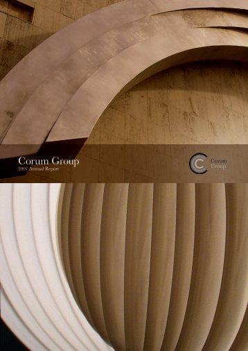 2007 Annual Report - Corum Group