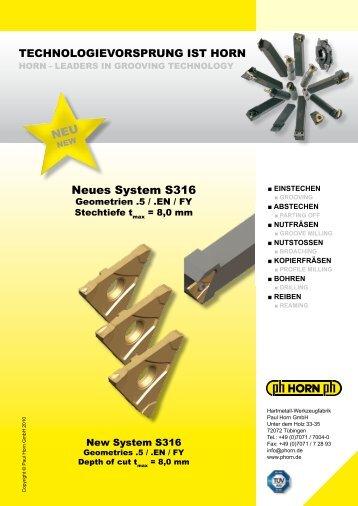 NEU Neues System S316 - Horn Magyarország Kft.