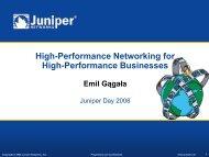 Juniper Networks Networking Platforms Overview