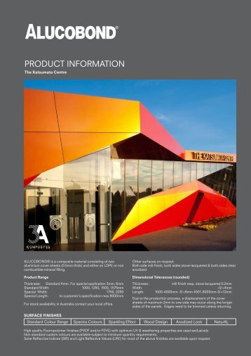 PRODUCT INFORMATION - Alucobond Architectural