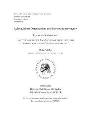Lehrstuhl f ¨ur Datenbanken und Informationssysteme - dbis