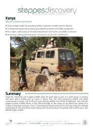Kenya Summary - Steppes Discovery