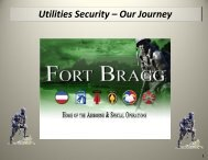 Utilities Security – Our Journey - North Carolina Utilities Commission