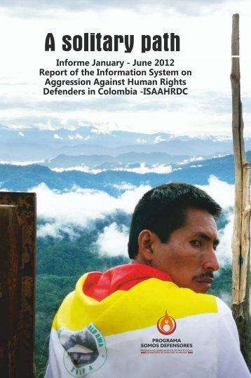 January-June 2012 Report - Programa Somos Defensores