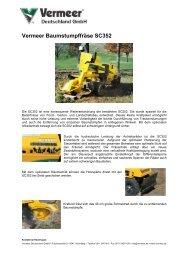 Technische Daten SC352 - Vermeer Deutschland GmbH
