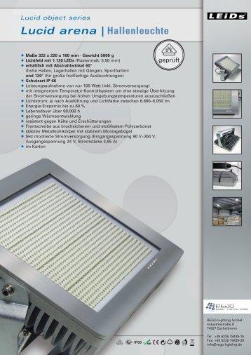 Lucid arena | Hallenleuchte - REGO-Lighting GmbH