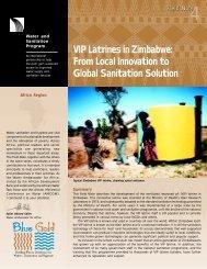 VIP Latrines in Zimbabwe - The Water, Sanitation and Hygiene