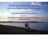 Building Sustainable Coastal Communities in New ... - COINAtlantic