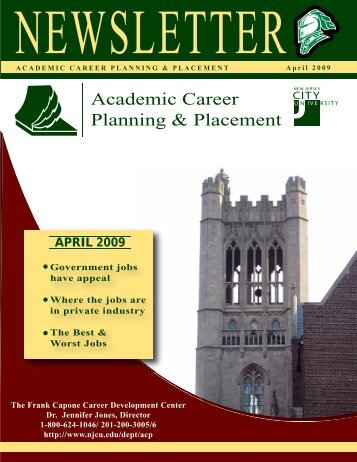 Academic Career Planning & Placement - New Jersey City University