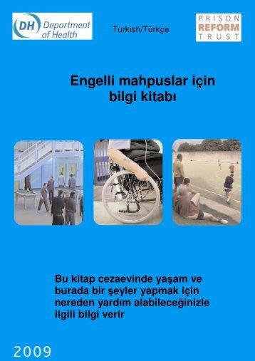 Engelli mahpuslar için bilgi kitabı - Prison Reform Trust