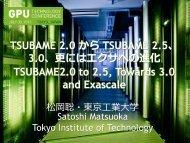 Tsubame2.0 - GPU Technology Conference