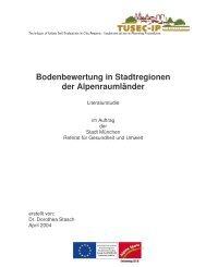 Stasch D.: Bodenbewertung in Stadtregionen der Alpenraumländer ...