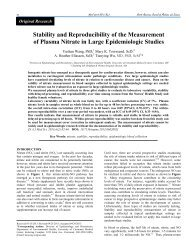 Stability and Reproducibility of the Measurement of Plasma Nitrate ...