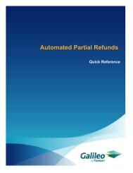 Automated Partial Refunds - Travelport Support
