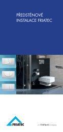 Prospekt předstěnové instalace FRIATEC - GLYNWED sro