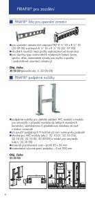 Prospekt předstěnové instalace FRIATEC - GLYNWED sro - Page 6
