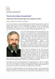 Offener Brief von Bischof Feige an die evangelischen Christen