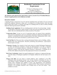 Residential Construction Permit Requirements - City of Woodland