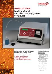 PAMAS 3116 FM Multifunctional Particle Counting ... - Importecnical