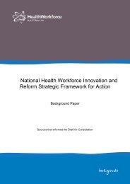 Background Paper - Health Workforce Australia