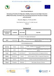 Attendee List - Focus Group Meeting - Africa-EU Partnership
