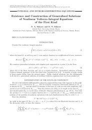 Existence and Construction of Generalized Solutions of Nonlinear ...