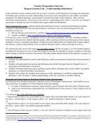 Teacher Preparation Notes for Dragon Genetics Lab ... - Serendip