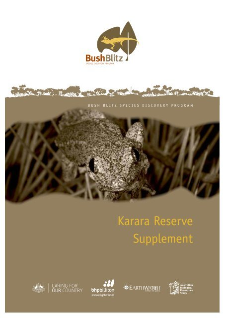 Karara Reserve Supplement - BushBlitz