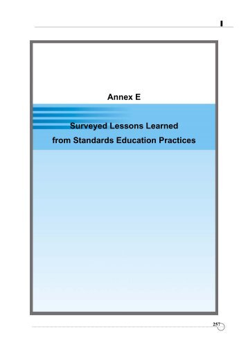 Annex E - APEC Standards Education Initiative