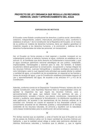 ESQUEMA DE LA LEY DE AGUAS - Iepala