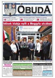 Idősek klubja nyílt a Meggyfa utcában - Óbuda-Békásmegyer