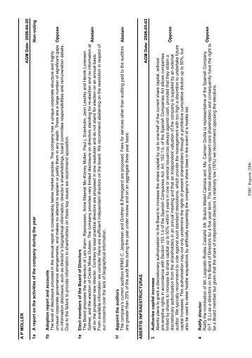 PIRC Reports 2006 AP MOLLER AGM Date: 2006-04-20 1a A report ...