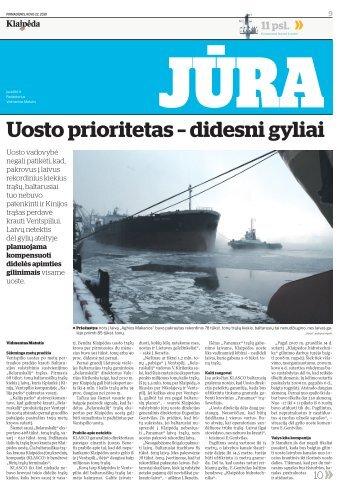 Uosto prioritetas – didesni gyliai - Diena.lt
