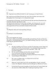Satzungen des ASV Köhlen - Frelsdorf - 1 - I. Satzungen § 1 Der ...