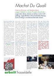 Ausführlicher Bericht über AQUARiS - Wir in der Hasseldelle
