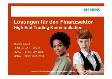 Lösungen für den Finanzsektor [PDF, 970 KB] - Siemens Enterprise ...