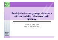 Testiranje splošnih računalniških kontrol - ISACA