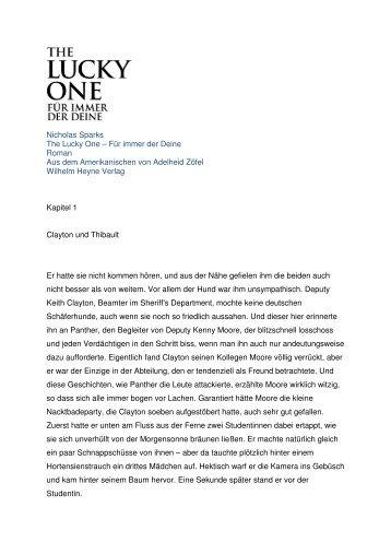 Nicholas Sparks The Lucky One - Warner Bros. Deutschland