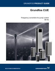 PRODUCT GUIDE Grundfos CUE