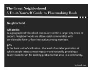 The Great Neighborhood A Do-it-Yourself Guide to Placemaking Book