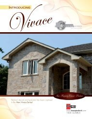 Vivace Specifications - Brampton Brick