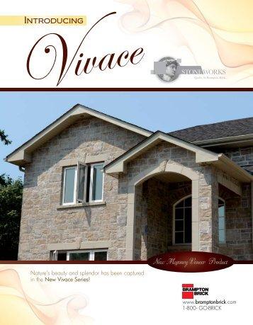 Vivace Specifications - Brampton Brick