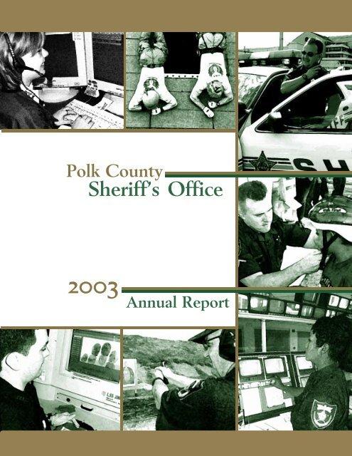 2003annualreportreader - Polk County Sheriff's Office